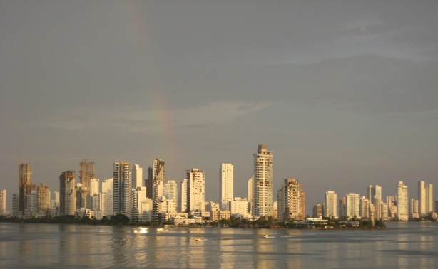rainbow over Boca Grande, Cartagena