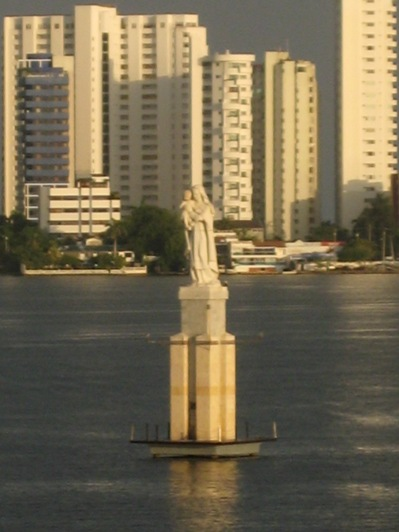 madonna in Cartagena harbor