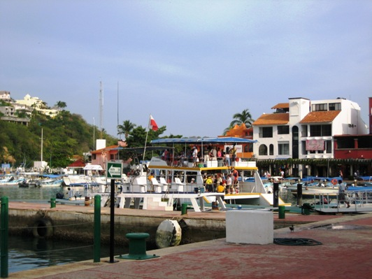 boat in marina and buildings