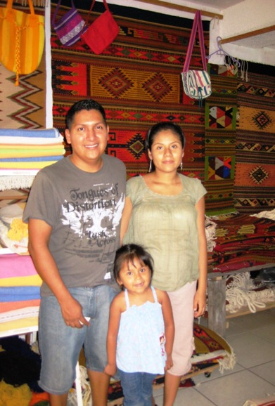 zapotec weaver & family