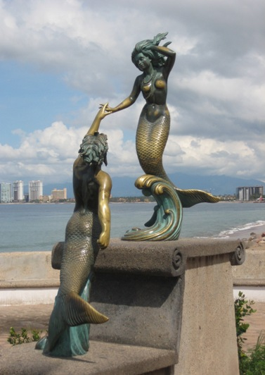 merman and mermaid
